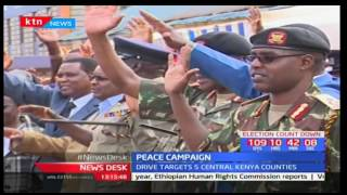 Religious leaders from central Kenya launch a peace caravan to preach peace during party nominations