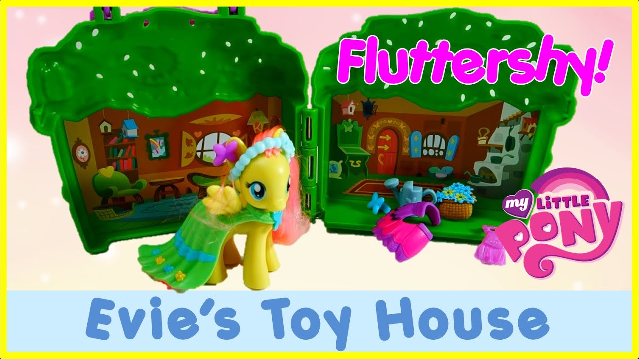 NEW Fluttershy Cottage - MLP Playset Toy Review Explore Equestria | Evies Toy House