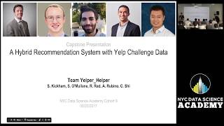 A Hybrid Recommender with Yelp Challenge Data