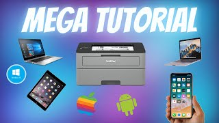 Brother Laser Printer MEGA Tutorial HL-L2350DW Wifi Setup and Installation Step by Step Manual