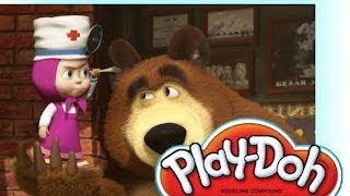 Маша и медведь Masha i medved Лунтик Play doh форма врача   Luntik Frozen toys Disney
