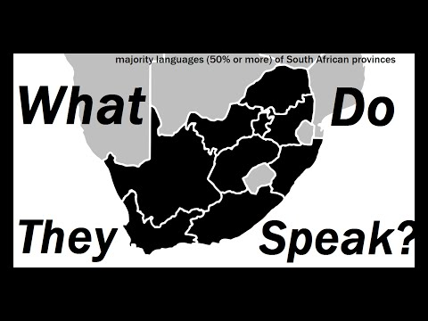 What Do They Speak?: South Africa