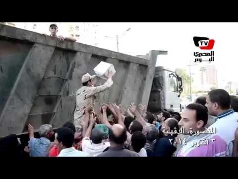 الجيش يوزع «كراتين العيد» على المواطنين بالدقهلية