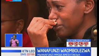 Biwi la simanzi lilitanda wakati wa misa ya wafu ya wasichana sita katika shule ya Moi Girls