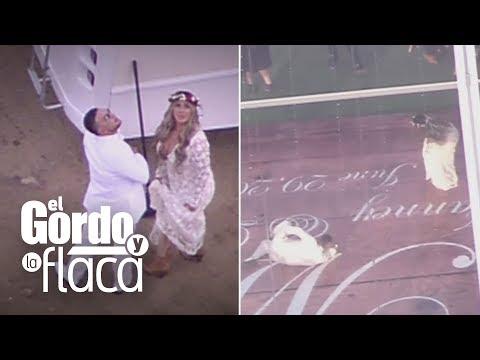 La boda de Chiquis y Lorenzo desde un helicóptero: El Gordo y La Flaca tiene las imágenesGYF