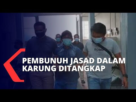 pelaku pembunuhan jasad dalam karung ditangkap polisi