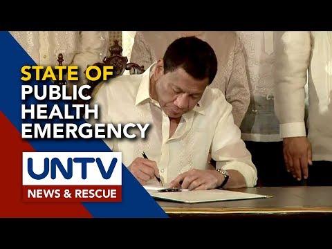 [UNTV]  Duterte, nilagdaan na ang proklamasyon para sa State of Public Health Emergency declaration