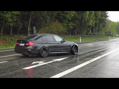 Cars Leaving Nürburgring Tankstelle in the RAIN! BMW M, AMG's, RX7, Shelby GT350R, Project 8 etc!