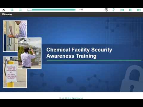 Chemical Facility Security Awareness Training Course Preview ...