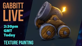 LIVE - Creating Stylized Game Assets - Simple - Texture Painting - CANNON