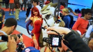 Latex Icon Bianca Beauchamp Tries Pick-Up Lines At Comic Con