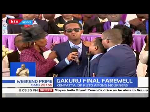 Emotional: Mugambi, late Wahome Gakuru's son moves the crowd when he sings for his late father