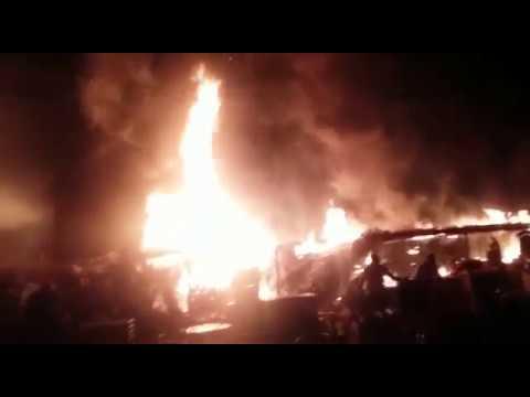 Incêndio criminoso destrói barracas em festejo em Alvorada do Gurgueia