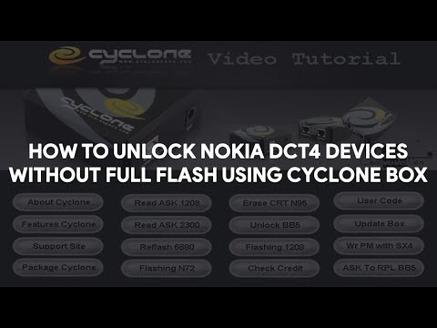 How To Unlock Nokia DCT4 Devices Without Full Flash Using Cyclone Box  - [romshillzz]