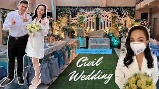 INTIMATE CIVIL WEDDING AMIDST THE PANDEMIC 💐🔔 | Pagaduan + Miquiabas [06.28.2020] 💏