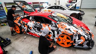 WRAPPING MY LAMBORGHINI IN AVENTADOR SVJ CAMO!!