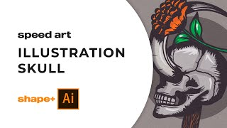 Speed Art - Illustrator - Skull