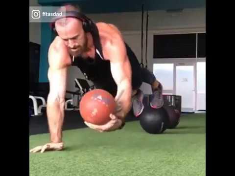 Plank Ball Shuffle Challenge