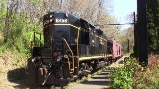 preview picture of video 'West Chester Railroad: Spring EMD Action!'