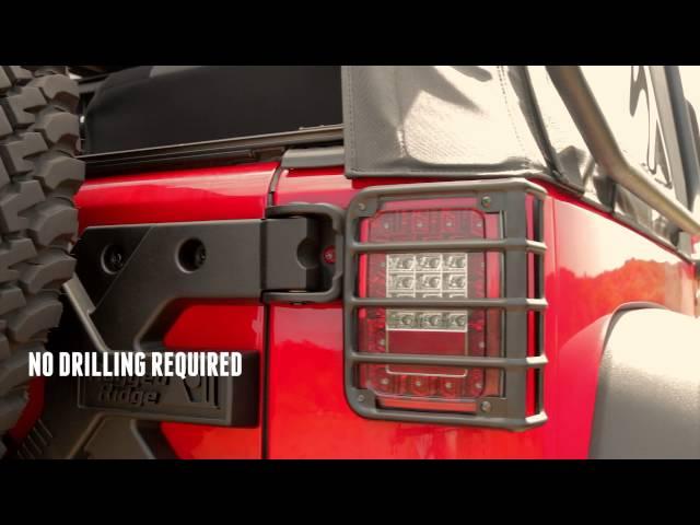 Rugged Ridge Euro Taillight Guards 2007-2017 Jeep Wrangler JK 11226.02