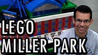 Giant LEGO Miller Park   Milwaukee Brewers Baseball Stadium