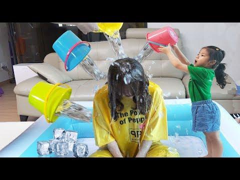 서은이야기 2018 아이스 버킷 챌린지 서은이와 엄마의 버킷 챌린지 Ice Bucket Challenge