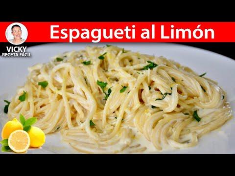 Prepara Un Delicioso Espagueti Al Limón Para Iniciar La Semana