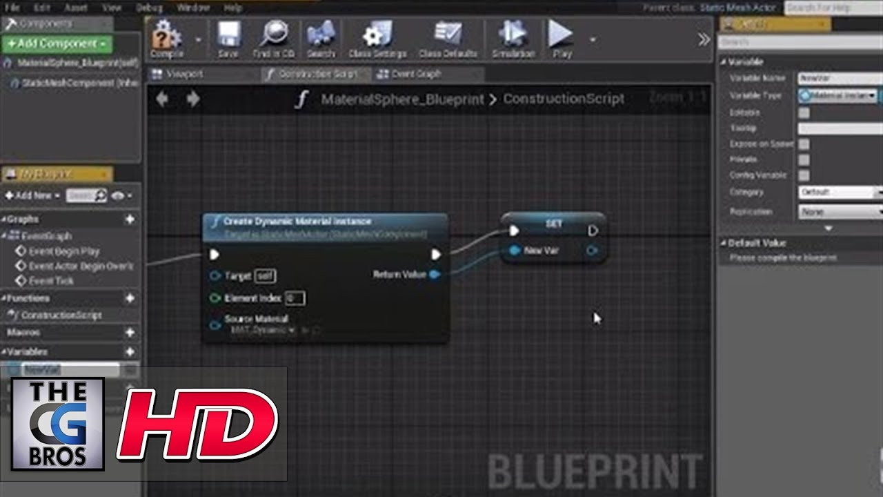 "CGI 3D Game Tutorial : ""Dynamic Materials in Unreal Engine 4"" - by 3dmotive"