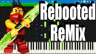 LEGO Ninjago Rebooted ReMix The Weekend Whip by The Fold   Synthesia Piano Tutorial