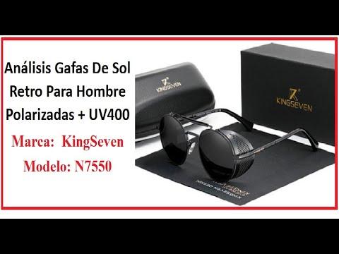 Gafas de sol Retro para hombre Polarizadas + UV400 Marca KingSeven