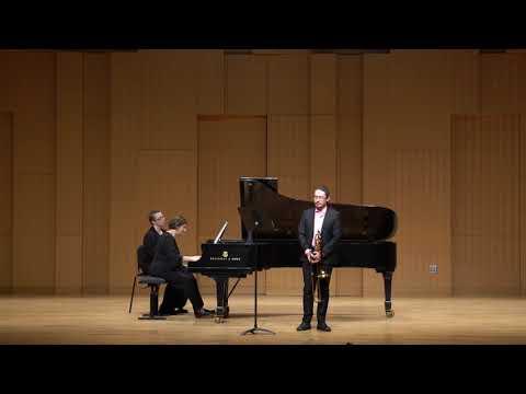 Daniel J. Cosio performing Georg Wagenseil's Concerto for Alto Trombone on alto trombone.
