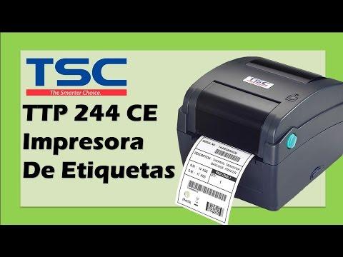TSC Impresora De Etiquetas de Código de Barras Térmica; Demostración y Uso TSC TTP 244 CE