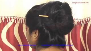 ILHF Rapunzel Long Hair Woman Flaunting, Making Big Bun & Bun Drops