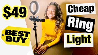 $49 ring light | Sunpak essentials vlogging kit | cheap ring light review