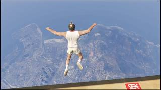 Epic dive into pool - GTA V
