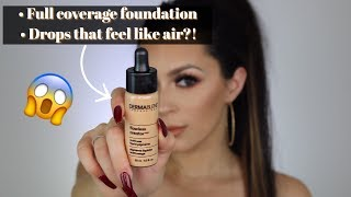 Weightless FULL COVERAGE foundation drops REVIEW l Dermablend
