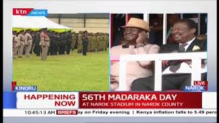 DP William Ruto arrives at Narok Stadium for #MadarakaDay2019