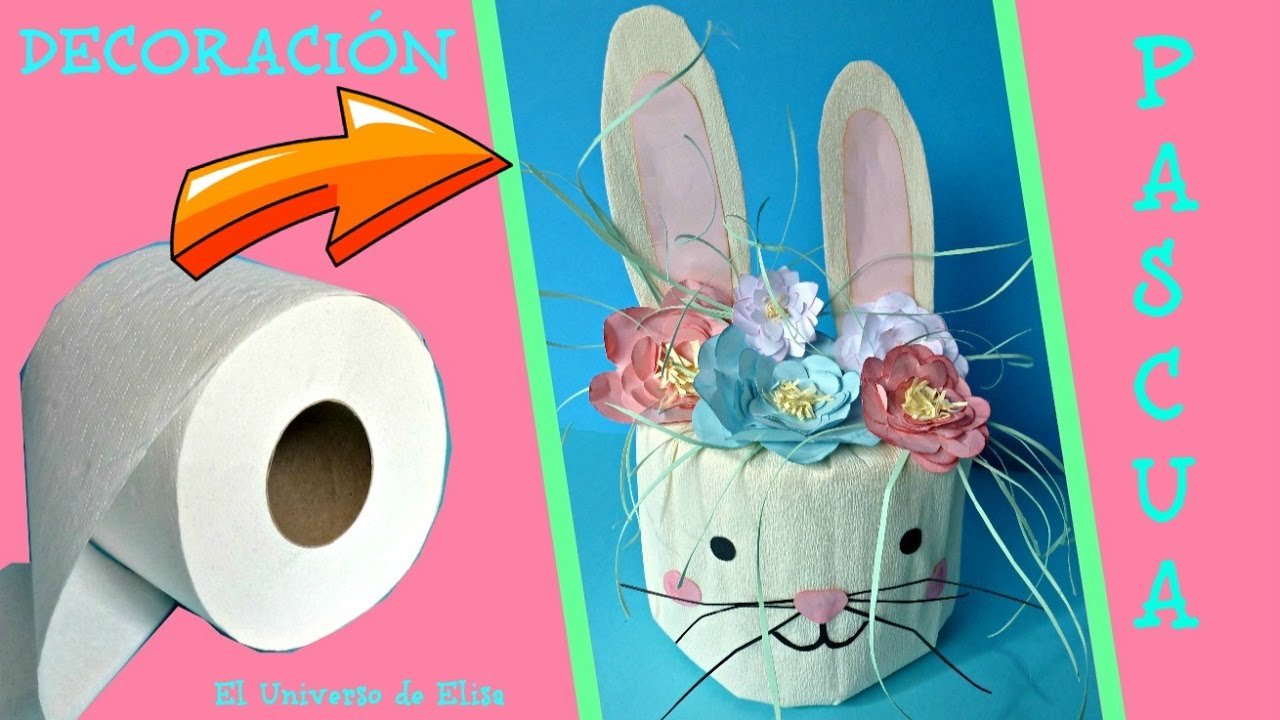 Manualidades para Pascua, Increibles Manualidades con Papel, Cómo hacer un Conejo de Pascua
