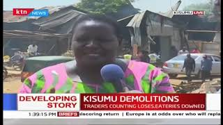 Traders counting losses as structures in Lwang'ni beach, Kisumu were demolished
