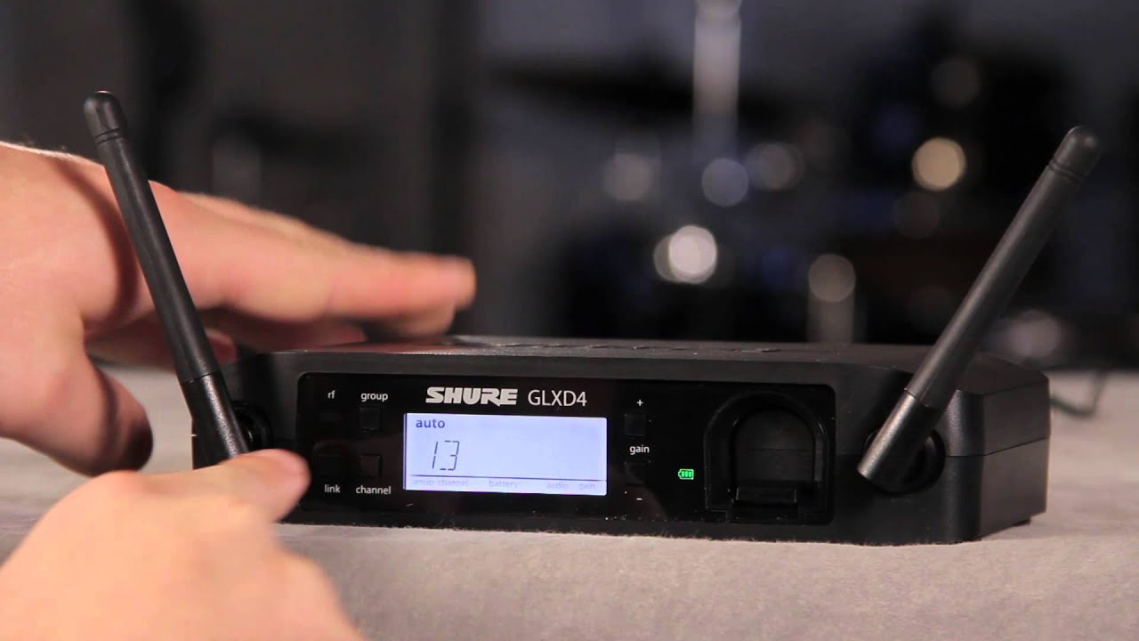 Shure GLX-D Digital Wireless System: Linking the System