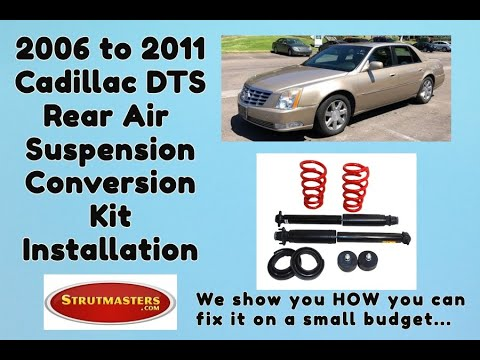 2006-2011 Cadillac DTS Rear Coil Spring Conversion Installation