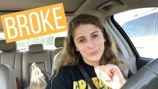 How I Grocery Shop as a BROKE COLLEGE STUDENT | Living off of $40 for TWO WEEKS