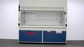 8′ Fisher Hamilton Safeaire Laboratory Fume Hood w/ Cabinets