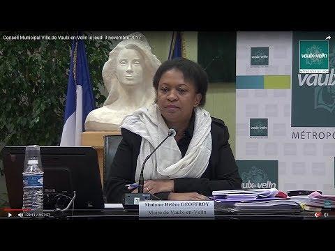 Conseil Municipal Ville de Vaulx-en-Velin le jeudi 9 novembre 2017