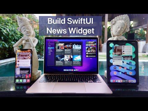 Build SwiftUI News Widget for iOS, iPadOS, macOS - Intent Configurable thumbnail