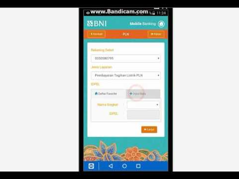 Cara bayar listrik via Bni Mobile Banking