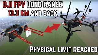 DJI FPV system (V1 goggles / air unit) range limit reached - 13.3 Km / 8.2 miles. Now what ?