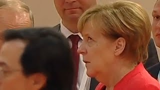 video: Watch: How the Merkel eye-roll betrays her real feelings on her allies