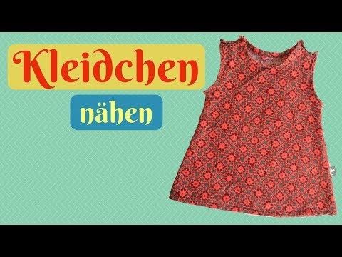 Baby Kleid/ Kleidchen nähen mit KOSENLOSEM Schnittmuster und Nähanleitung für Anfänger