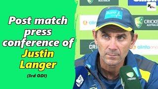 Watch: Justin Langer's post third ODI press conference | Australia vs India